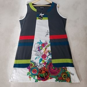 Leopards & Roses NWT Sleeveless 100% Cotton Dress